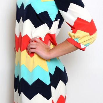 cute amp colorful chevron dress from flourish boutique new