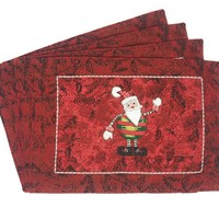 Tache Here Comes Santa Claus Vintage Holiday Woven Tapestry Placemat (8577PM)