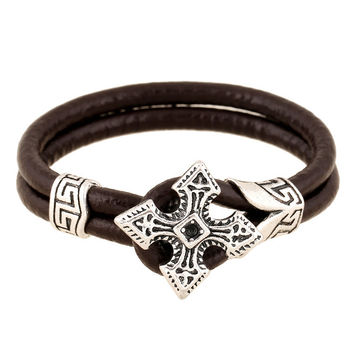 Stylish Hot Sale Great Deal New Arrival Awesome Shiny Gift Korean Men Leather Bangle Accessory Vintage Bracelet [6526776643]