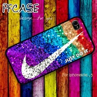 Glitter nike just do it : Case For Iphone 4/4s ,5 /Samsung S2,3,4