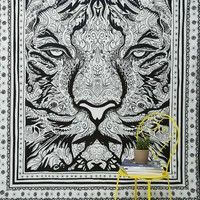 Hand Sketched Tiger Tapestry - Urban Outfitters