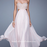 Strapless Long La Femme Prom Dress