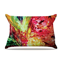 """Mary Bateman """"Passion Flowers I"""" Pillow Case - Outlet Item"""