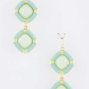 Geo Mint Earrings