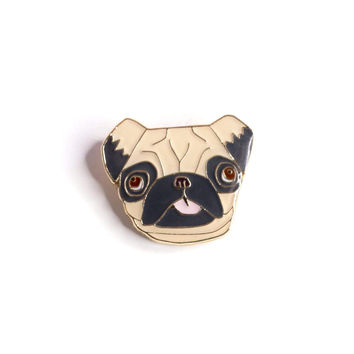 Mr. Pugsly The Pug Enamel Pin