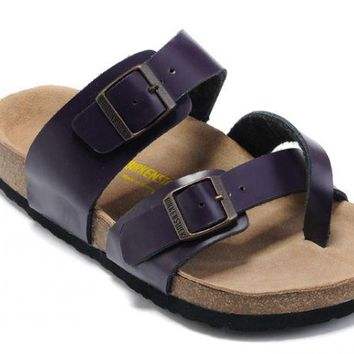 Birkenstock Mayari Sandals Leather Deep Purple - Ready Stock