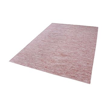Alena Handmade Cotton Rug In Marsala And White - 5ft x 8ft