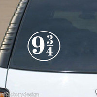 Harry Potter Inspired Platform 9 3/4 Vinyl Decal Die Cut Car Sticker