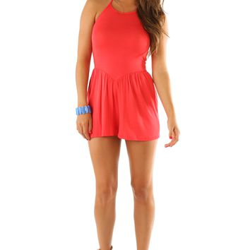 Dance With You Romper: Watermelon