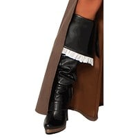 Sexy Ruffle Pirate Boot Cover Halloween Accessory