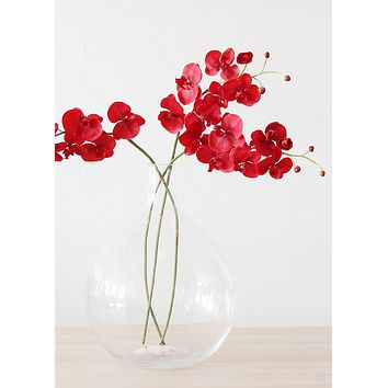 "Artificial Phalaenopsis Orchid in Red - 38"" SPECIAL"