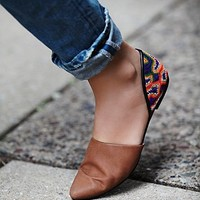 FP Collection Womens Rajah Flat