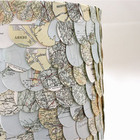 map lampshade by eclu on Etsy