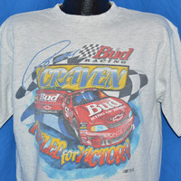 90s Ricky Craven #50 Bud Racing Nascar t-shirt Large
