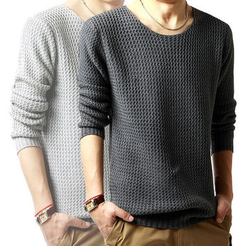 Mens Fashionable Pullover Sweater