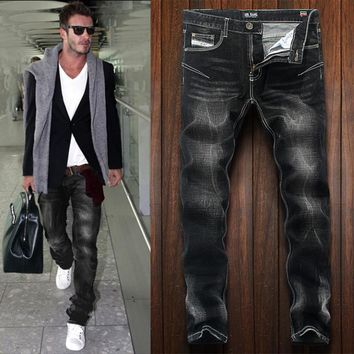 High Quality Fashion Designer Men Jeans 2017 Newly Stylish Ripped Jeans Men DSEL Brand Distressed Pants Casual Leisure Trousers