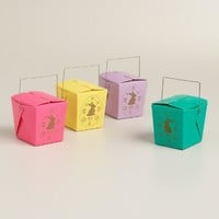 Mini Laser-Cut Bunny Takeout Gift Boxes, Set of 12