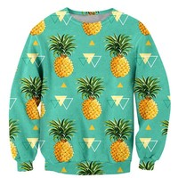 Fashion Fruit Long Sleeve Sweatshirt Men Print Pineapple Orange Hip Hop Jogger Men's Crewneck Pullover 3D Hoodie Sweatshirts