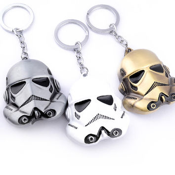 Star Wars Keychain Rebels Stormtrooper Helmet Storm Trooper Pendant Key Chain Darth Vader Swank Novelty Mask Superhero Keyring