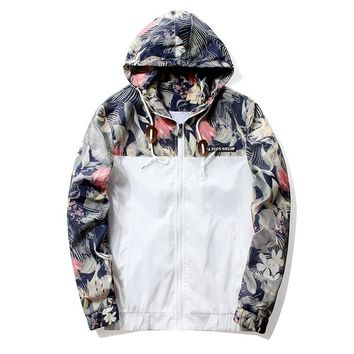 Floral Bomber Jacket Men Hip Slim Fit Flowers Pilot Bomber Jacket Coat Jackets Plus Size 4XL ,