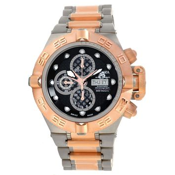 Invicta 11048 Men's Subaqua Noma IV Automatic Rose Gold Bezel Titanium & Steel Bracelet Chronograph Dive Watch