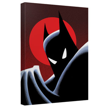 Batman Animated Series Moonlight Stretched Canvas Wall Art