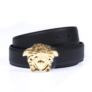 Versace Belt Sz. 95 Leather MADE IN ITALY Man Black DCU4140DGOV2-D410H PUT OFFER