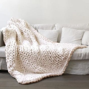 100*100cm Chunky Knitted Blanket