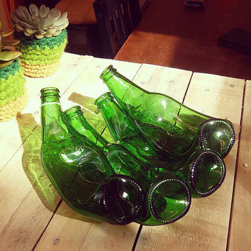 Artistic Scale, Bowl, Vase, Art Object / gift for Grolsch beer fan / home decor / reclycling glass