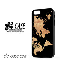 World Map On Wood Texture Print DEAL-12071 Apple Phonecase Cover For Iphone 5 / Iphone 5S