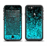 The Black and Turquoise Unfocused Sparkle Print Apple iPhone 6/6s Plus LifeProof Fre Case Skin Set