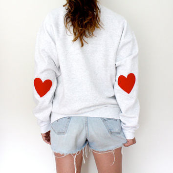 Elbow Heart Sweatshirt  Original Red by MFjewels on Etsy
