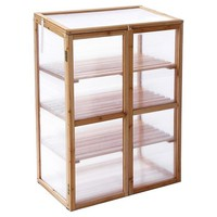 Wood Mini Greenhouse - Brown - Leisure Season