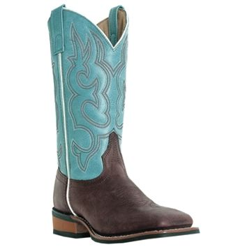 The Mesquite boot in blue is a high quality Laredo Cowboy Approved boot.