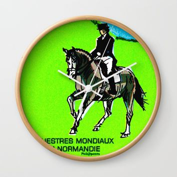 2014 FEI World Equestrian Games in Normandy DRESSAGE Wall Clock by lanjee
