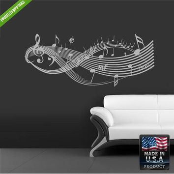 Wall Decal Decal Sticker Beautiful Notes Music Bedroom  z166