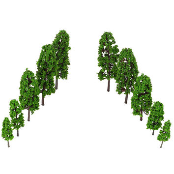Train Layout Green Pagodo Tree Model Garden Scenery Landscape Architectural Model Diorama Miniatures Trees Model 20Pcs SM6