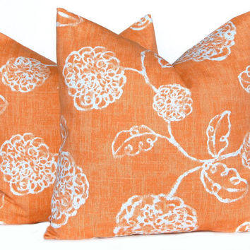 Fall Pillows Autumn Pillows Decorative Throw Pillow Cover Thanksgiving Decor One All Sizes Orange Floral Cushion Covers Fall Decor