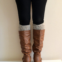 Curly Textured Boot Cuffs in Wheat, Boot Socks, Boot Toppers, Leg Warmers, Ankle Warmers