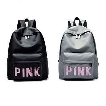 DCCKN7K Victoria's Secret PINK : Casual Sport Laptop Bag Shoulder School Bag Backpack