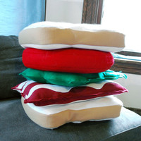 BLT Five Pillow Set Bacon Lettuce and Tomato by diffractionfiber