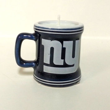 New York Giants Candle - Mini Mug Soy Candle - CHOICE OF SCENT