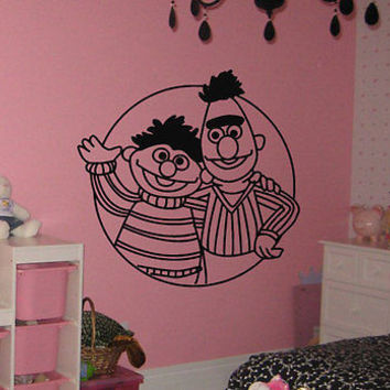 Ernie and Bert Sesame bedroom Children's room Wall Art Decal Stickers tr645