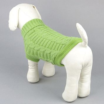 Pet Dog Cat Winter Warmer Sweater Clothes Puppy Jumper Knit Apparels 5 Color