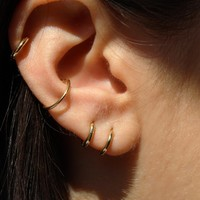 BAMBINO SOLID GOLD HOOPS