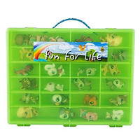 Littlest Pet Shop /Uggly Compatible Organizer Lime/Green - Fun for LifeTM is Pefect Compatible Storage Case for LPS- Fits up to 60 Characters