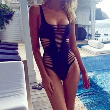Hollow One Piece Swimwear Bikini Swimsuit