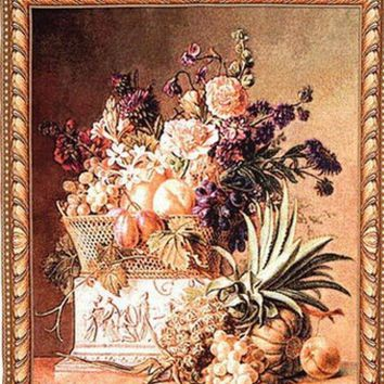 VONESC6 050327  European rural pineapple potted flower home sitting room the bedroom decorate wall tapestry