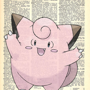 Clefairy Pokemon Dictionary Art Print
