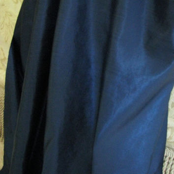 Crow Foot Satin Weave Fabric 4 Harness Fabric  Navy Composite Fabric Sold by the yard